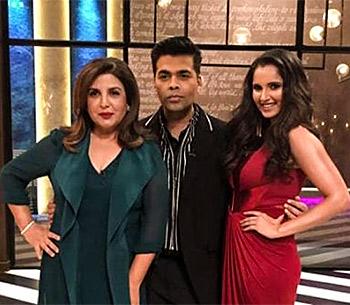 Current Bollywood News & Movies - Indian Movie Reviews, Hindi Music & Gossip - Watch: Farah Khan, Sania Mirza on Koffee with Karan