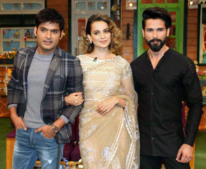 Current Bollywood News & Movies - Indian Movie Reviews, Hindi Music & Gossip - PIX: Shahid, Kangana, Saif promote Rangoon