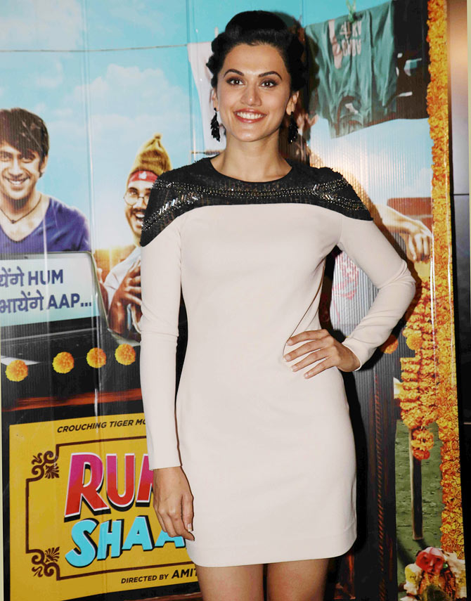 Current Bollywood News & Movies - Indian Movie Reviews, Hindi Music & Gossip - PIX: Nora, Ayushmann watch Running Shaadi with Taapsee