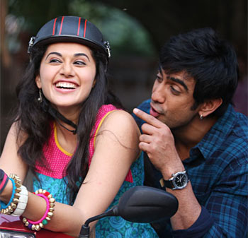 Taapsee Pannu and Amit Sadh in Running Shaadi