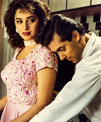 Madhuri Dixit and Salman Khan in Hum Aapke Hain Koun..!
