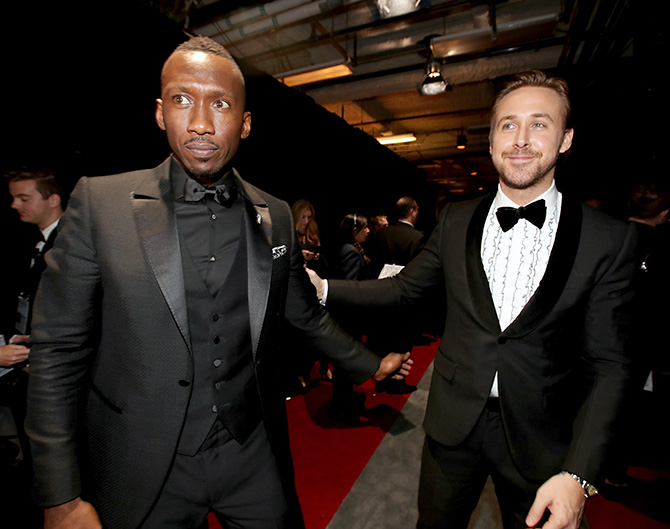 Mahershala Ali and Ryan Gosling at the Oscars