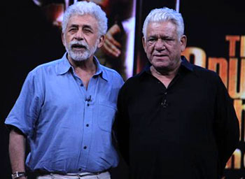 Naseeruddin Shah and Om Puri