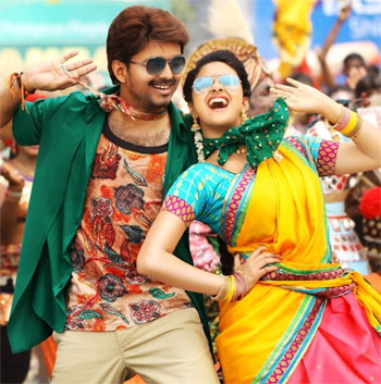 Vijay and Keerthy Suresh in Bairavaa