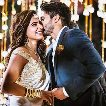 Current Bollywood News & Movies - Indian Movie Reviews, Hindi Music & Gossip - PIX: Nagarjuna's son Chaitanya gets engaged to Samantha