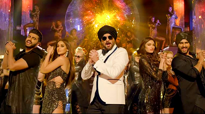 Arjun Kapoor, Ileana, Anil Kapoor and Athiya Shetty in Mubaraka