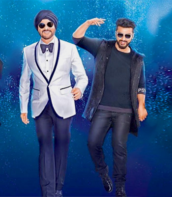 Anil Kapoor and Arjun Kapoor in Mubarakan