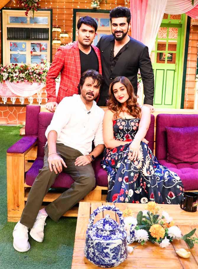 PIX: Anil, Arjun dance on The Kapil Sharma Show - Rediff com