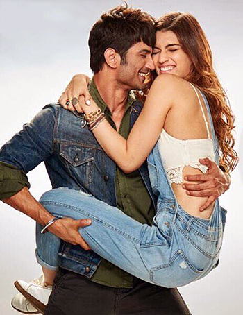 Sushant Singh Rajput and Kriti Sanon in Raabta