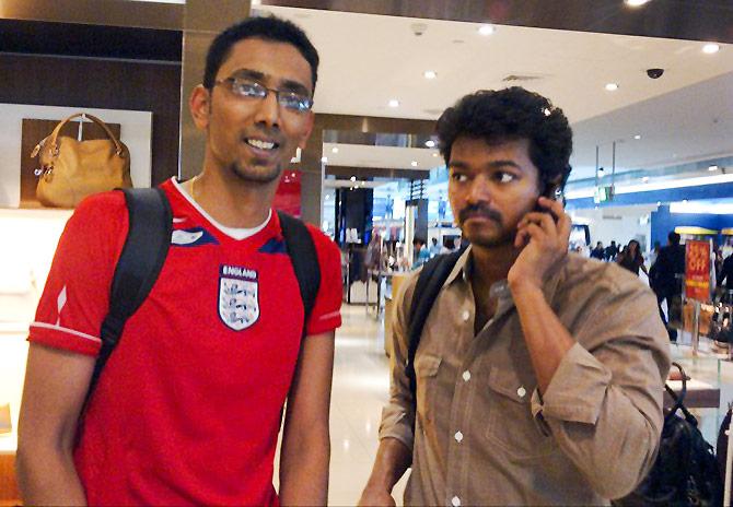 Spotted Tamil Actor Vijay In Dubai Rediffcom Movies