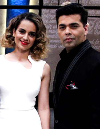 Kangana Ranaut and Karan Johar on Koffee With Karan