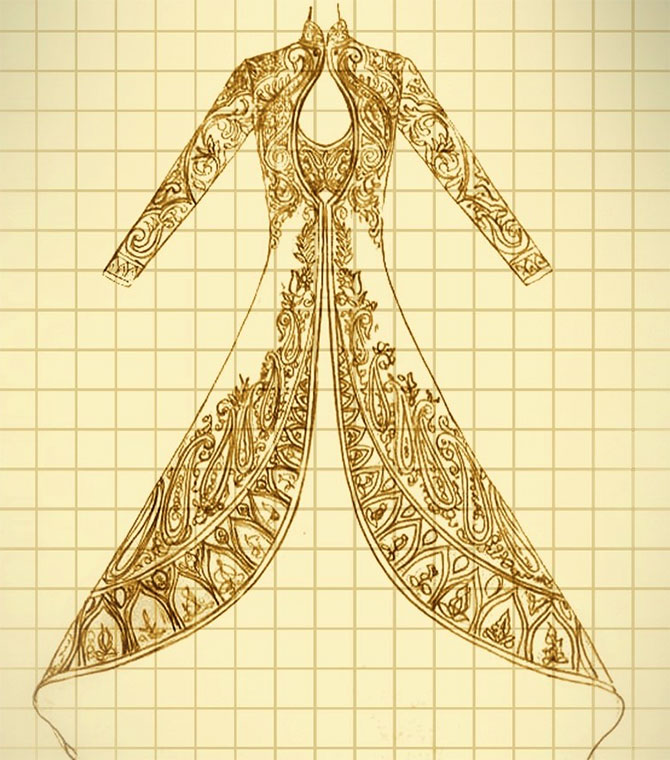 A design reference for costume for Padmavati