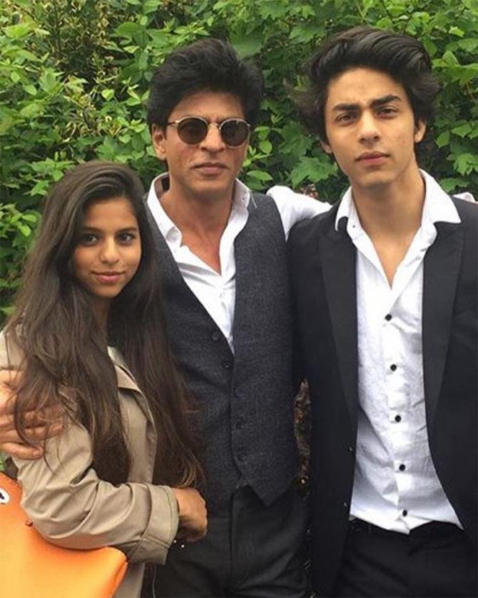 meet shah rukh khans son aryan rediffcom movies
