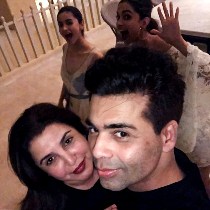 Deepika Padukone and Alia Bhatt photobomb Farah Khan and Karan Johar