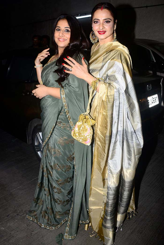 Current Bollywood News & Movies - Indian Movie Reviews, Hindi Music & Gossip - PIX: Vidya Balan, Rekha have a movie date