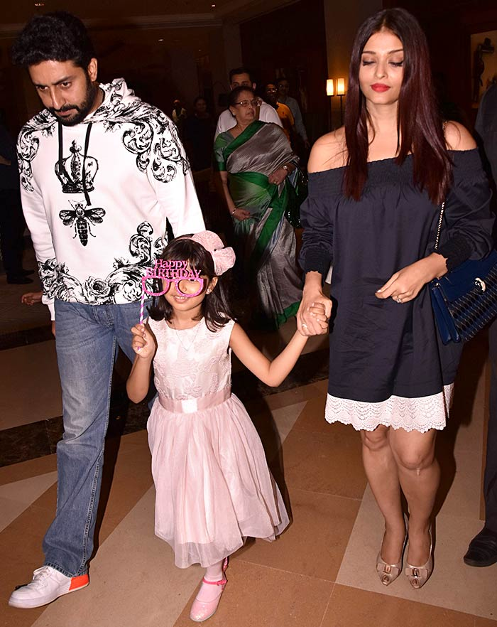 Current Bollywood News & Movies - Indian Movie Reviews, Hindi Music & Gossip - PIX: Abhishek-Aishwarya celebrate Aaradhya's birthday