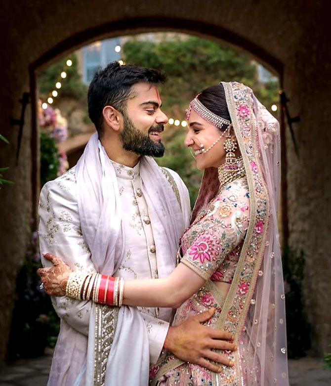 Current Bollywood News & Movies - Indian Movie Reviews, Hindi Music & Gossip - PIX: Happy Anniversary, Anushka-Virat!