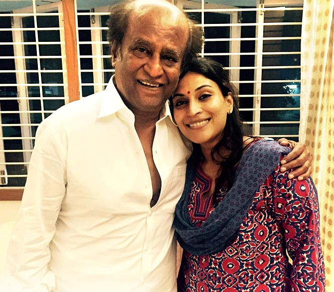 Aishwaryaa with her father Rajinikanth