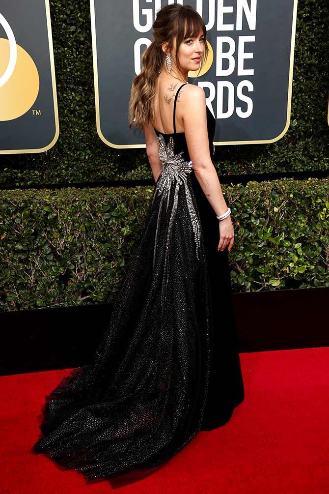 Golden Globes 2018 Is Dakota Johnson The Best Dressed Vote Rediff Movies
