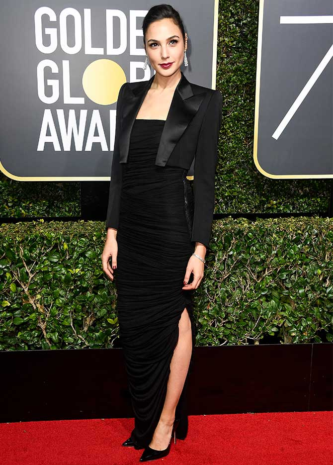 Golden Globes 2018 Gal Gadot Sharon Stone On The Red
