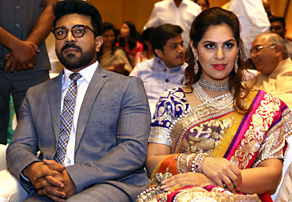 Current Bollywood News & Movies - Indian Movie Reviews, Hindi Music & Gossip - Chiranjeevi, Ram Charan star at dazzling Hyderabad wedding