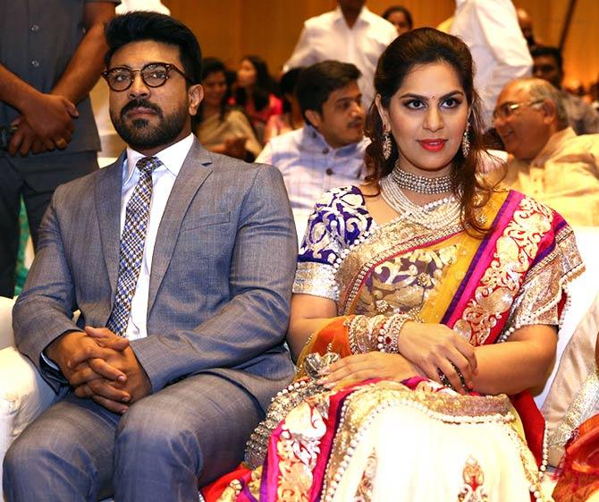 Chiranjeevi Ram Charan Star At Dazzling Hyderabad Wedding