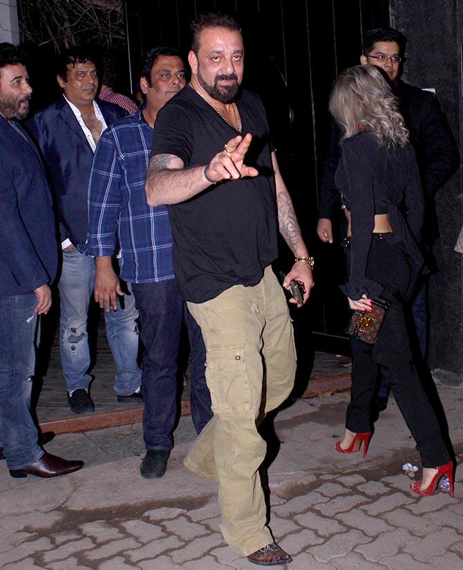 Sanjay Dutt seen at a party in Mumbai last month. Photograph: Pradeep Bandekar