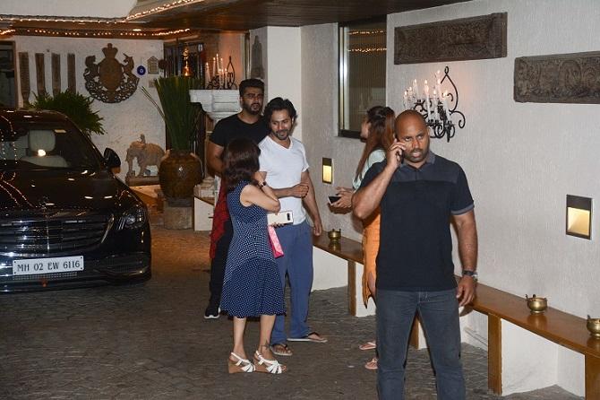 Arjun, Karan rehearse for Sonam Kapoor's sangeet - Rediff ...
