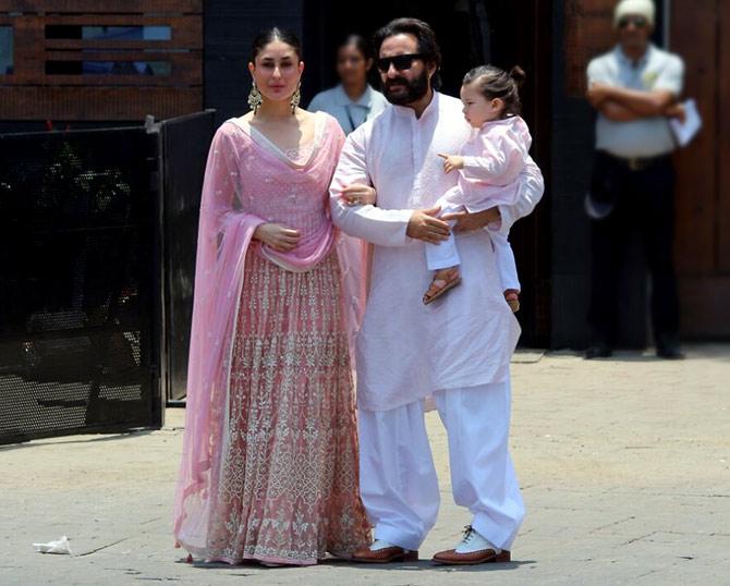 PIX: Kareena-Saif-Taimur at Sonam's wedding