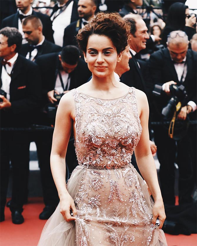 Cannes 2018: Kangana's HOT debut! - Rediff.com Movies