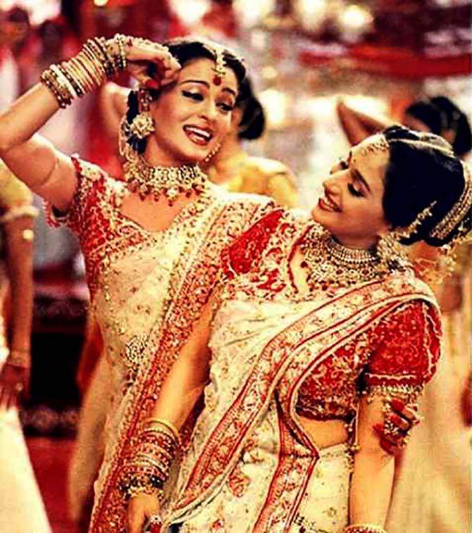 madhuri aishwarya didnt crib rediffcom movies