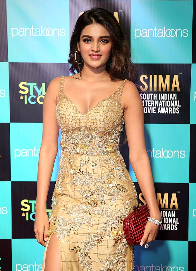 PIX: Nidhhi, Kreethy, Vijay at SIIMA awards - Rediff com movies