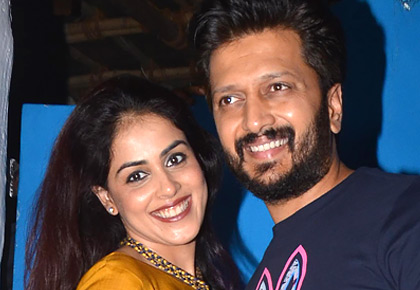 PIX: Riteish-Genelia step out for a party