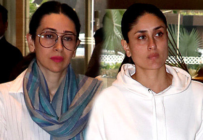 Karisma, Kareena, Shweta at prayer meeting