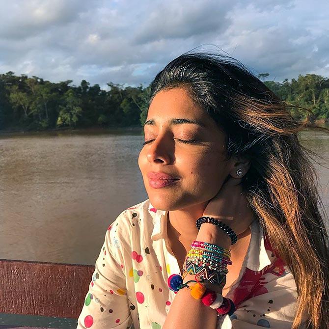 PIX: Shriya Saran's South American holiday - Rediff com movies