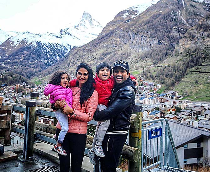 Pix: Exotic Swiss vacation for Allu Arjun and family - Rediff com movies