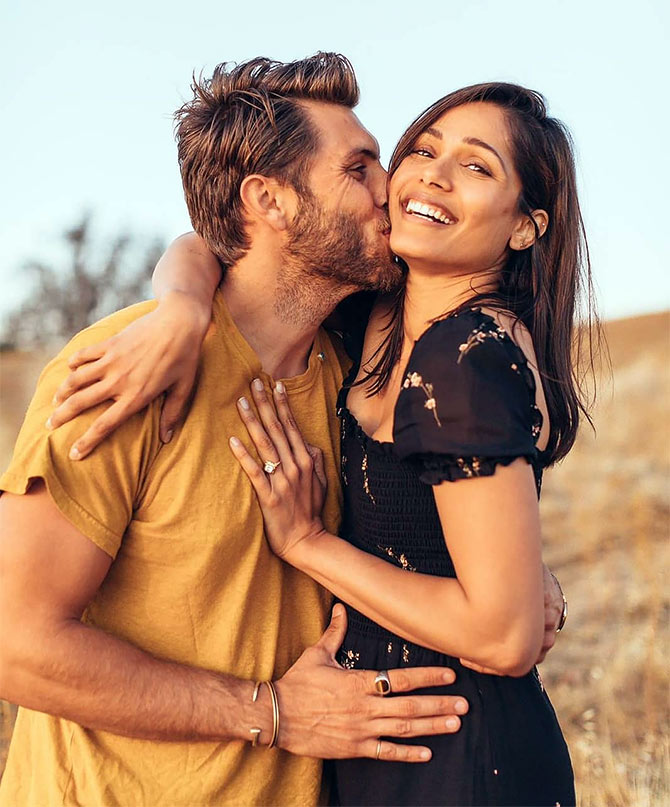 Freida Pinto gets engaged - Rediff.com movies