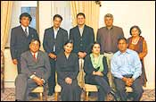 (Standing left to right) Dr Krishna Reddy, Varun Nikore, Kapil Sharma, Tunku Varadarajan, Dr Madhulika S Khandelwal. (Sitting left to right) Swadesh Chatterjee, Swati Dandekar, Mallika Dutt, Anil Kakani