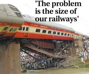 The problem is the size of our railways'