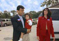 Bobby Jindal with daughter Selia Elizabeth and wife Supriya