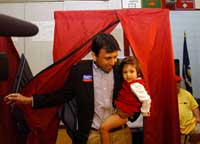 Bobby Jindal with daughter Selia Elizabeth. Pic: Paresh Gandhi