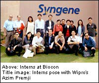 Interns at Biocon