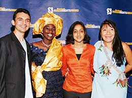 Gupta won the Reebok 2004 Human Rights Award in March. Seen here with other awardees.