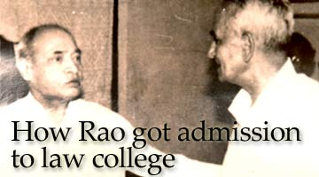 P V Narasimha Rao with his close friend, advocate Chintaman Marpakwar of Nagpur.
