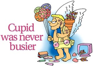 Cupid was never busier
