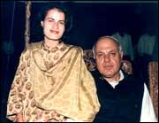 Sara with Farooq Abdullah