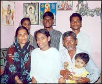 Vaishali with her family