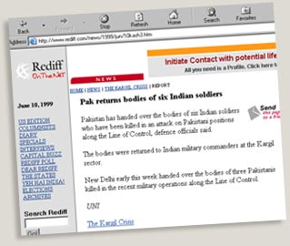 A screenshot of the news on Rediff.com