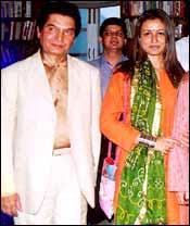 Asrani and Namrata Shirodkar. Pic: Saab Press