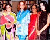 Mausumi Chatterjee, Zeenat Aman, Celina Jaitley (right). Pic: Saab Press
